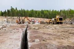 De steengroeve van het graniet Stock Foto's