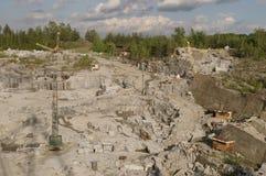 De steengroeve van het graniet Stock Fotografie