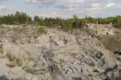 De steengroeve van het graniet Royalty-vrije Stock Foto