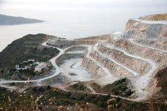 De Steengroeve van het Parijs gips in Noordelijk Kreta Royalty-vrije Stock Foto