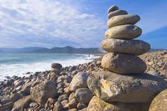 De steenmeditatie van Zen stock foto's