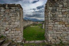 De steenruïnes van Historische Salonae verdelen dichtbij, Dalmatië, Kroatië Stock Foto's