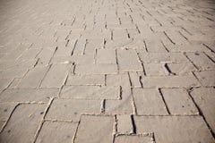 De steenweg van de stad Stock Fotografie