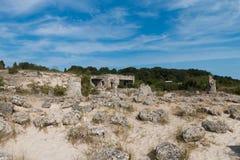 De Steenwoestijn (Pobiti-kamani) dichtbij Varna, Bulgarije Stock Foto's