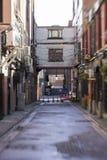 De stegen van Glasgow op een oude ochtend stock foto's