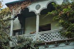 De stegen van de oude stad Oud Tbilisi georgië royalty-vrije stock afbeelding