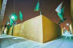 De stegen van oude Yazd royalty-vrije stock afbeeldingen