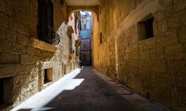 De stegen van Valletta malta royalty-vrije stock fotografie