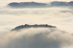 De Steile rots van het roer, het Engelse District van het Meer Stock Afbeeldingen