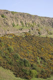 De Steile rotsen van Salisbury, Holyrood Park, Edinburgh stock fotografie