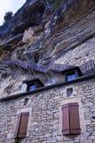De steile stappen koesteren de klippen boven het dorp van La Royalty-vrije Stock Foto's