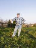 De stellende landbouwer van de mens Stock Foto's