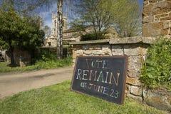 De stem blijft Teken voor Campagne van het Referendumbrexit van Juni 23ste 2016 de Europese - Zuiden Newington, Oxfordshire, het  stock foto