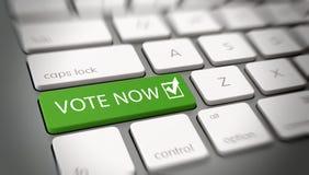 De Stem nu concept van Internet of van de computer Royalty-vrije Stock Afbeeldingen