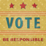 De Stem van de presidentiële Verkiezing Royalty-vrije Stock Foto