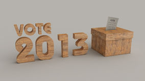 De stemdoos van verkiezingen 2013 vector illustratie