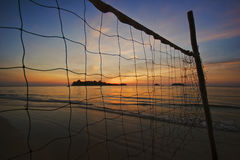 De stemming van de zonsondergang van tropisch strand Royalty-vrije Stock Fotografie
