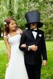 De stemming van het huwelijk Stock Foto
