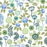 De stemming van de lente Bloemenachtergrond met retro motieven Royalty-vrije Stock Foto