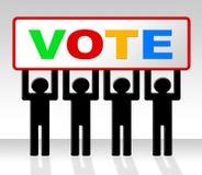 De stemopiniepeiling vertegenwoordigt beslist en Kiezend verkies stock illustratie