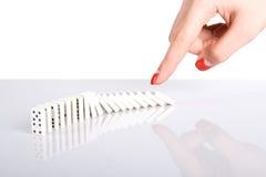 De stempel van de hand de domino's Royalty-vrije Stock Foto