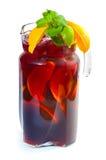 De stempel van het fruit in waterkruik Royalty-vrije Stock Foto's
