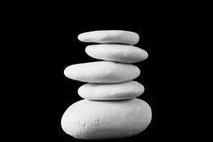 De stenen en het bamboe van Zen stock fotografie