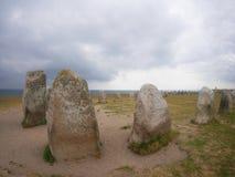 De stenen van Ales Stenar royalty-vrije stock foto's