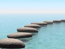 De stenen van de vlotter Stock Fotografie