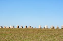 De stenen van het aal in zuiden van Zweden stock afbeeldingen