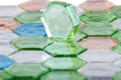 De stenen van het glas, glastegels, kleur Stock Foto