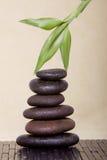 De stenen van het kuuroord met bamboe Stock Afbeelding