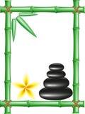 De stenen van het kuuroord zen en frame bamboe Royalty-vrije Stock Afbeeldingen