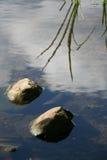 De stenen van het meer royalty-vrije stock foto