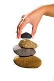De stenen van het saldo Stock Afbeeldingen