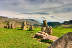 De stenencirkel van de mysticus Royalty-vrije Stock Foto