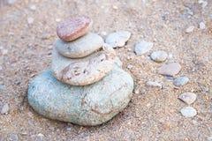 De stenentoren van de kiezelsteen Royalty-vrije Stock Foto's