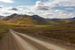 De stenenweg in Chukotka, Rusland Royalty-vrije Stock Afbeeldingen