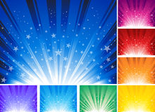 De ster barstte Achtergrond Stock Afbeelding