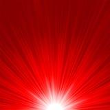De ster barstte rode en gele brand. EPS 8 Royalty-vrije Stock Afbeeldingen