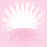 De ster barstte roze Stock Foto