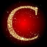De ster C van de brief Stock Afbeeldingen