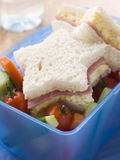 De ster de Gevormde Mayonaise van het Ei en Sandwich van de Ham Royalty-vrije Stock Foto's