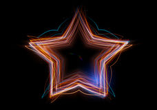 De ster die uit abstracte energie wordt samengesteld Royalty-vrije Stock Afbeelding