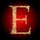De ster E van de brief Royalty-vrije Stock Afbeelding