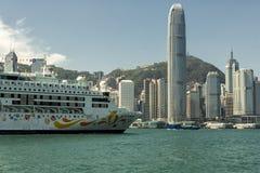 De ster kruist kruiserschip in de Hong Kong-haven Royalty-vrije Stock Afbeeldingen