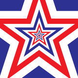 De ster met Amerikaanse vlag kleurt achtergrond Stock Foto's