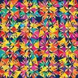 De ster sneed het vierkante stammen naadloze patroon van de kleurensymmetrie royalty-vrije illustratie