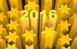 de ster van 2016 Stock Afbeeldingen