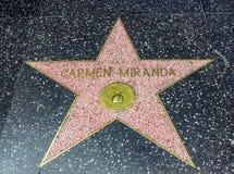 De Ster van Carmen Miranda ` s, Hollywood-Gang van Bekendheid - 11 Augustus, 2017 - Hollywood-Boulevard, Los Angeles, Californië, Royalty-vrije Stock Fotografie